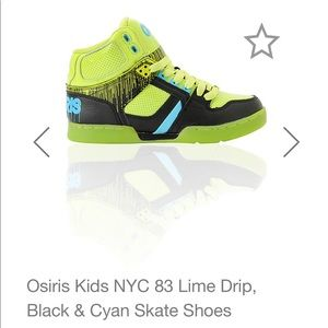 2b422c77ce1 Osiris Kids NYC 83 Lime Drip, Black Skate Shoes 4